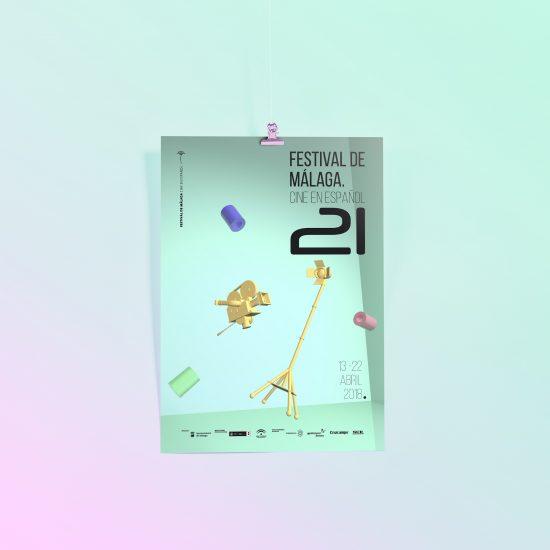 Cartel 21 Festival de Cine de Málaga